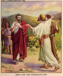 jesus and the nobleman's son