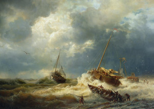 ships-in-a-storm-on-the-dutch-coast-andreas-achenbach