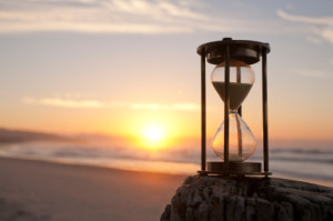 Hourglass Sand Timer Beach Sunrise