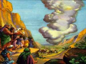 God's Pillar Leading the Israelites Exodus 13:21-22